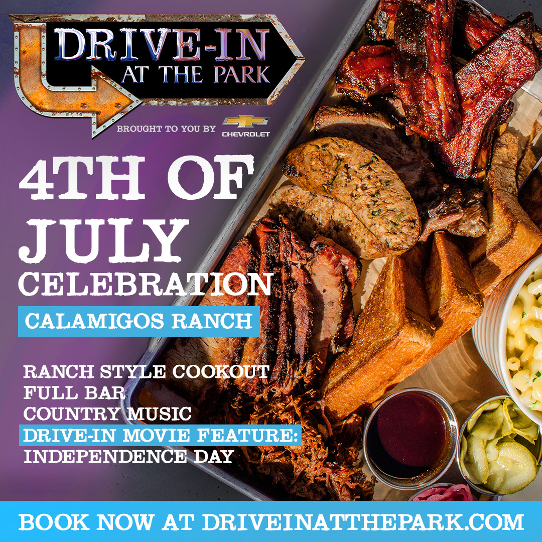 summer, drive-in, tailgate fest, calamitous ranch, whittier narrows, castaic lake, social distance, cover safe, independence day, fourth of july, tickets, cocktails bar, hot dog bar